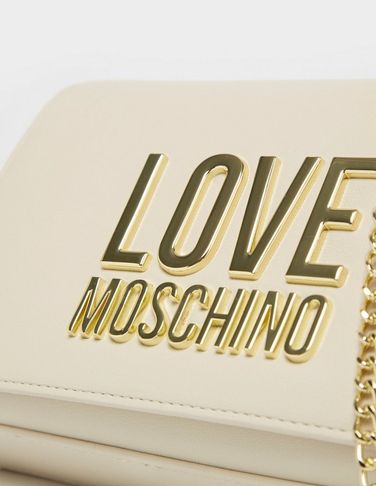 Love Moschino Letter Chain Flap Bag