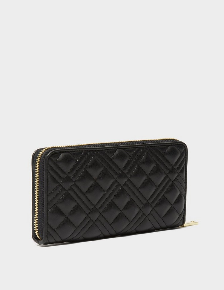 Love Moschino Quilted Logo Zip Purse