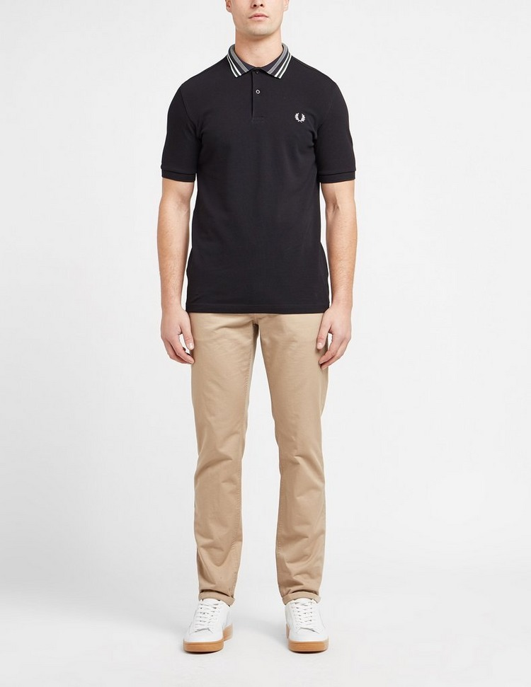 Fred Perry Striped Collar Polo Shirt