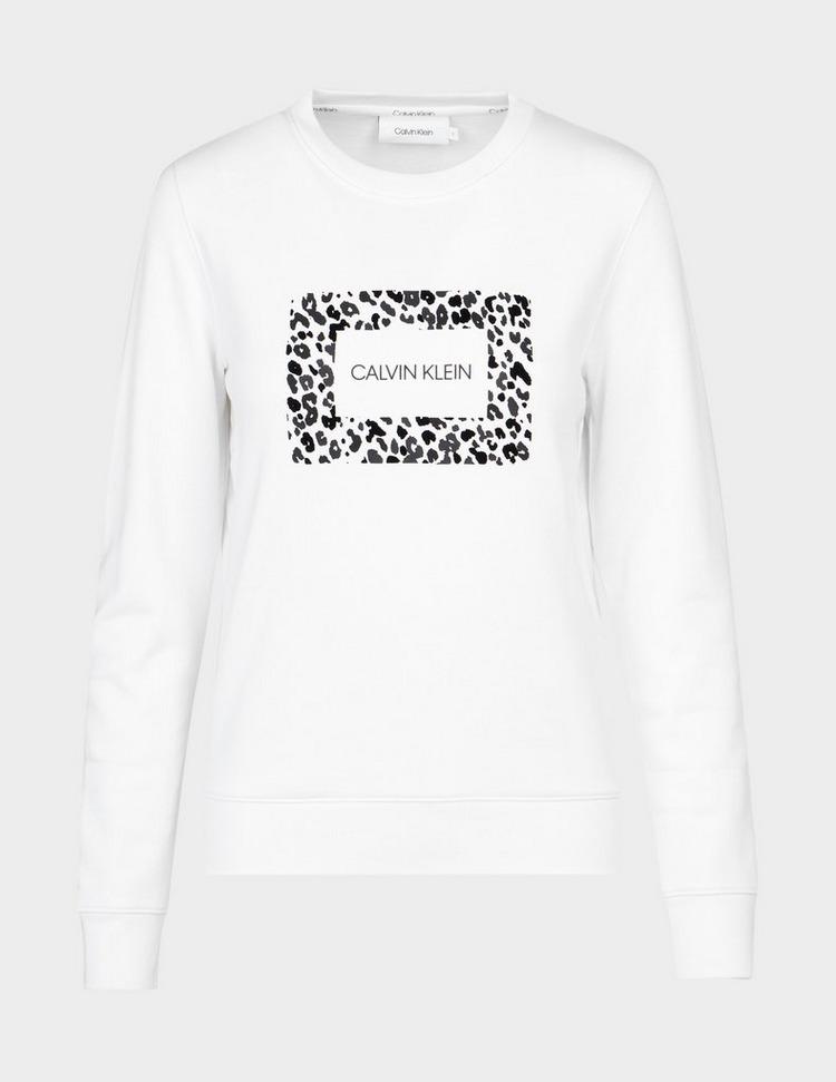 Calvin Klein Womenswear Leopard Box Sweatshirt