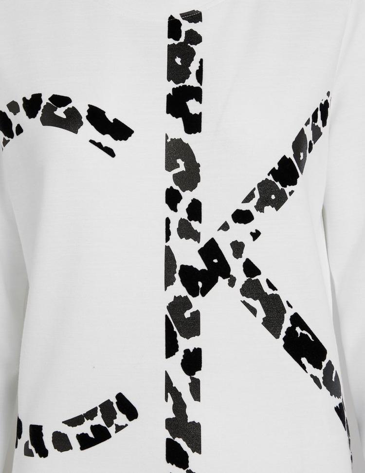 Calvin Klein Womenswear Large Leopard Logo Sweatshirt