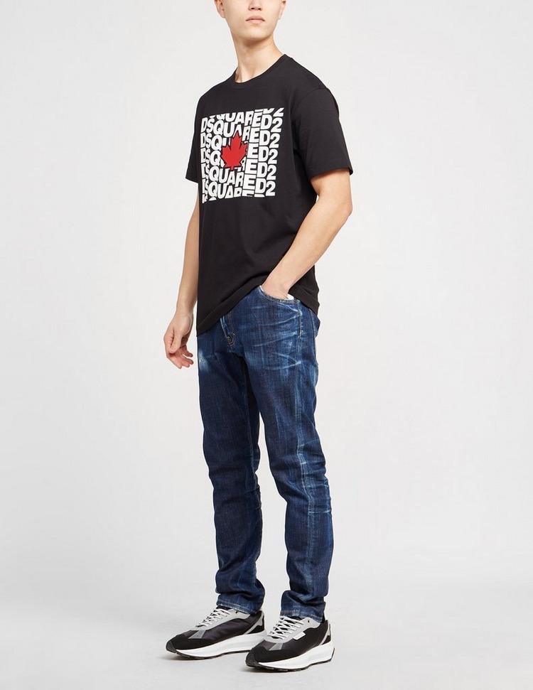 Dsquared2 Text Maple Leaf T-Shirt