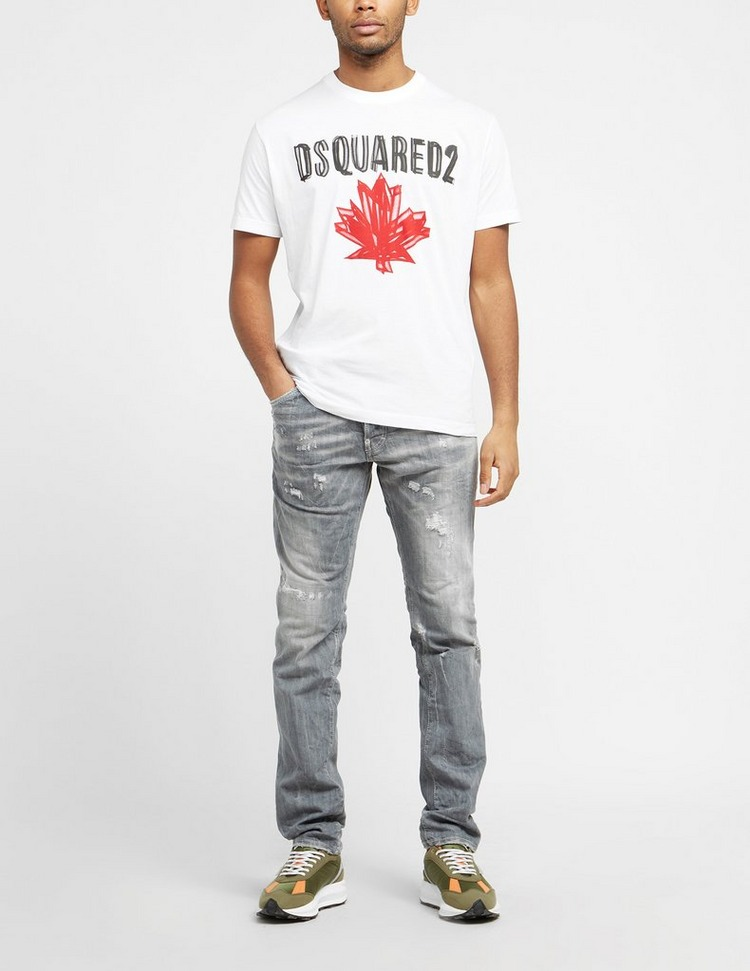 Dsquared2 Sketch Maple Text T-Shirt