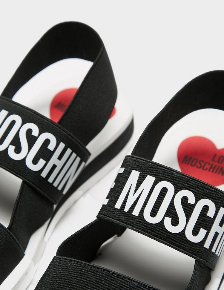 Love Moschino Logo Strap Sandals