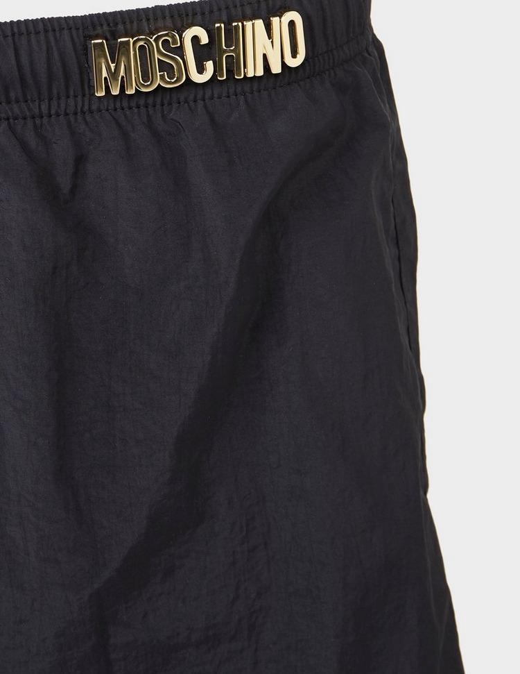 Moschino Metallic Letter Swim Shorts
