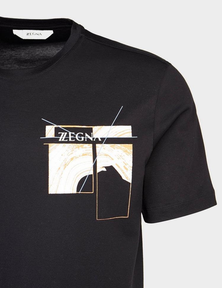 Z Zegna Chest Logo Back Wave T-Shirt