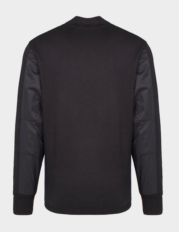 Ma Strum Nylon Panel Mock Sweatshirt