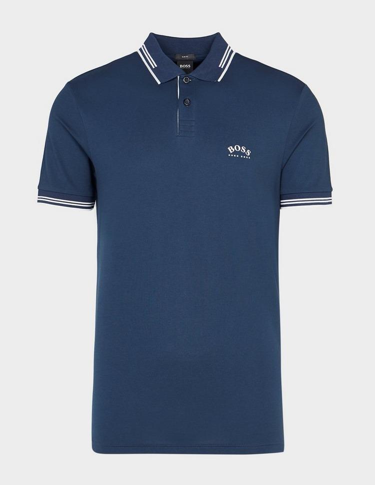 BOSS Paule Curved Logo Polo Shirt