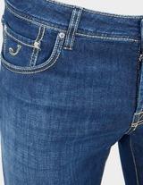 Jacob Cohen Slim Yellow Badge Jeans