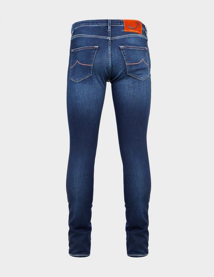 Jacob Cohen Skinny Orange Badge Jeans
