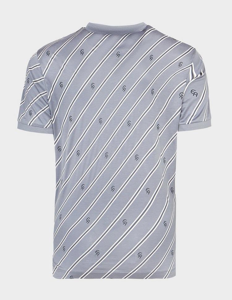 Emporio Armani Diagonal Stripe & Eagle Polo Shirt