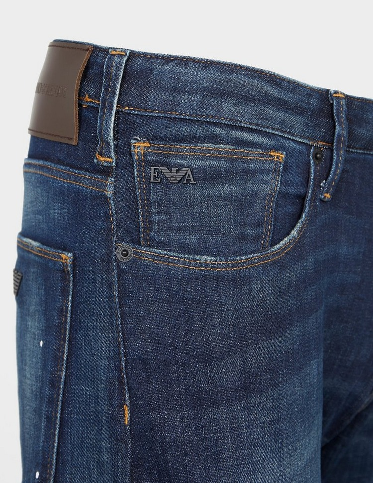 Emporio Armani J06 Slim Paint Splat Jeans