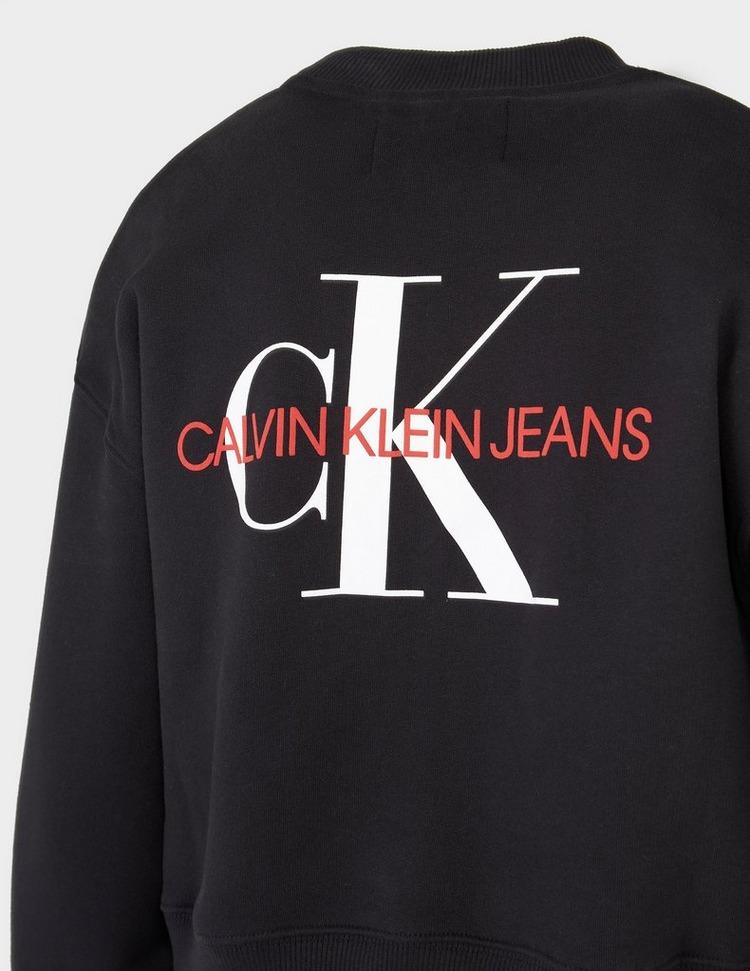 Calvin Klein Jeans Back Monogram Cropped Sweatshirt