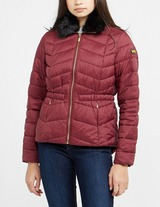 Barbour International Quilted Fur Jacket