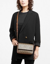 DKNY Bryant Logo Flap Shoulder Bag
