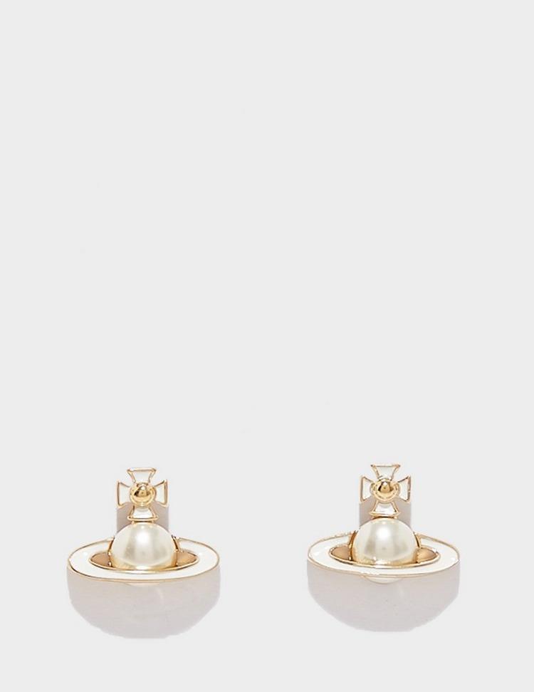 Vivienne Westwood Iris Brass Earrings