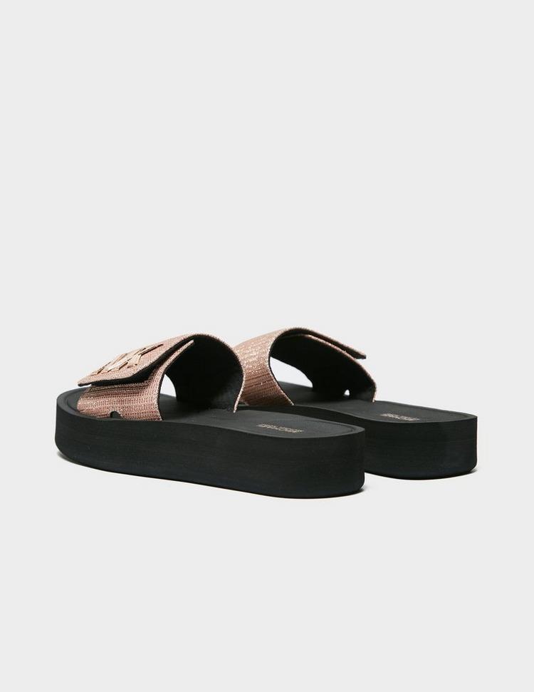 Michael Kors Glitter Strap Slides