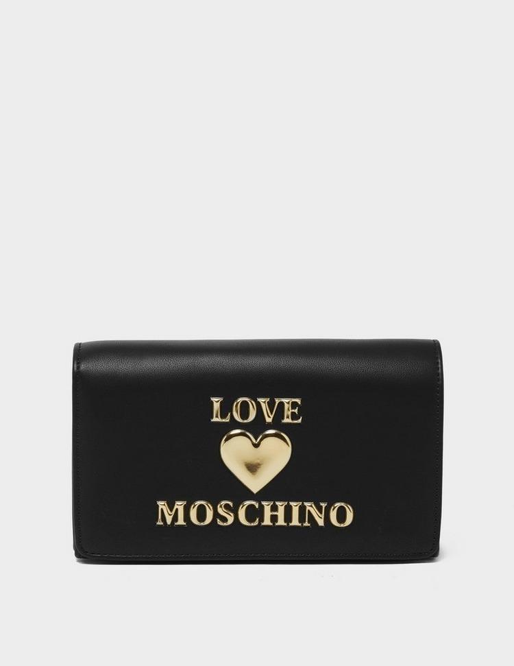 Love Moschino Heart Logo Chain Flap Bag