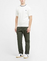 Fred Perry Made In England Pique Tipped Short Sleeve T-Shirt