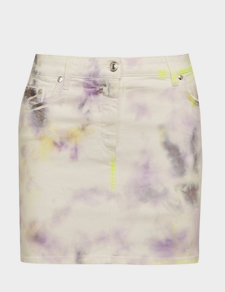 MSGM Tie Dye Denim Skirt