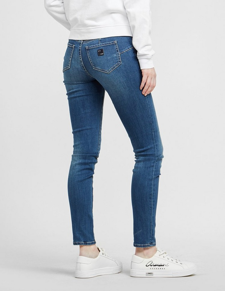 Armani Exchange Lift Up Mid Rise Skinny Jeans