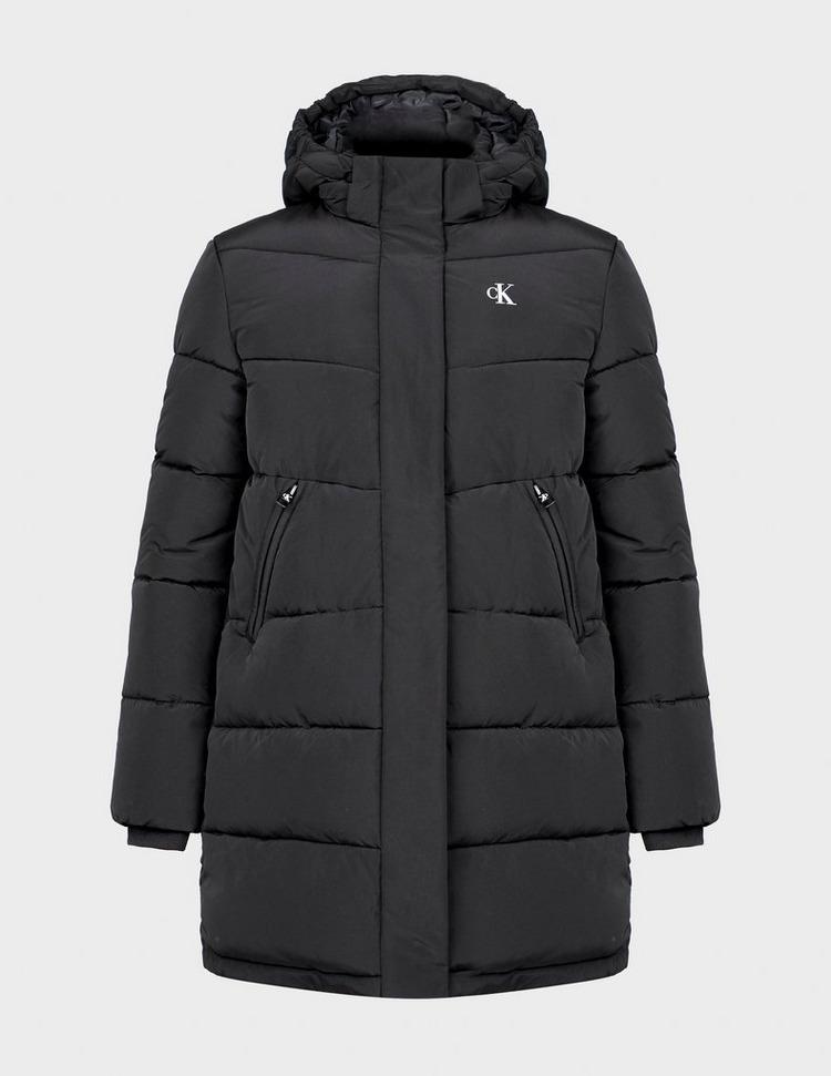 Calvin Klein Long Hooded Puffer Jacket