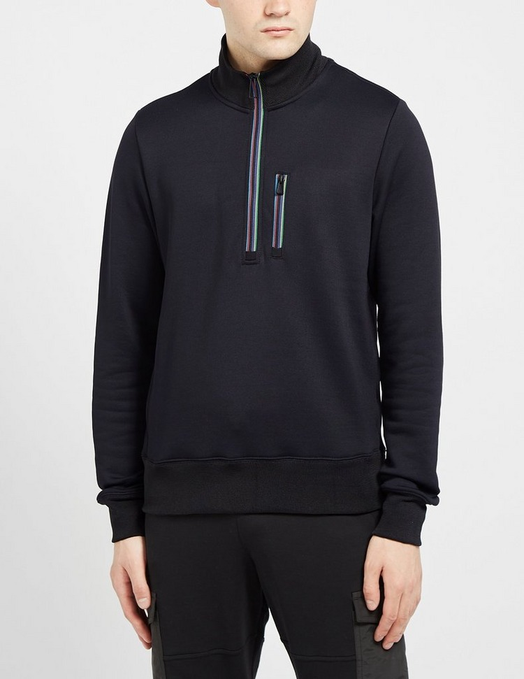 PS Paul Smith Merc Stitch Tipped Half Zip Sweatshirt