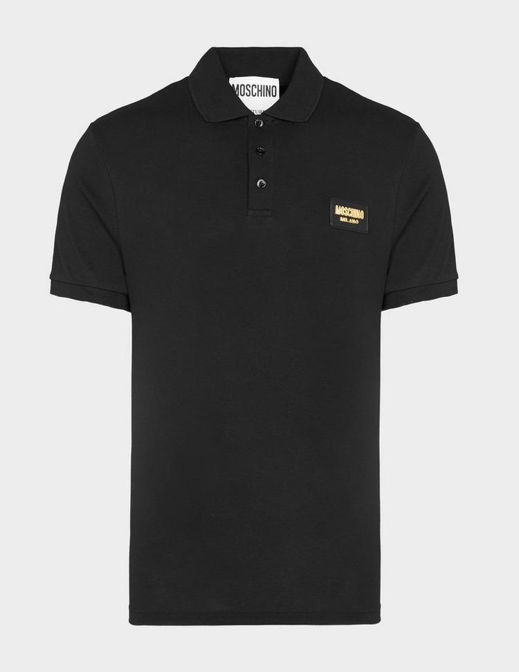 Moschino Gold Badge Polo Shirt