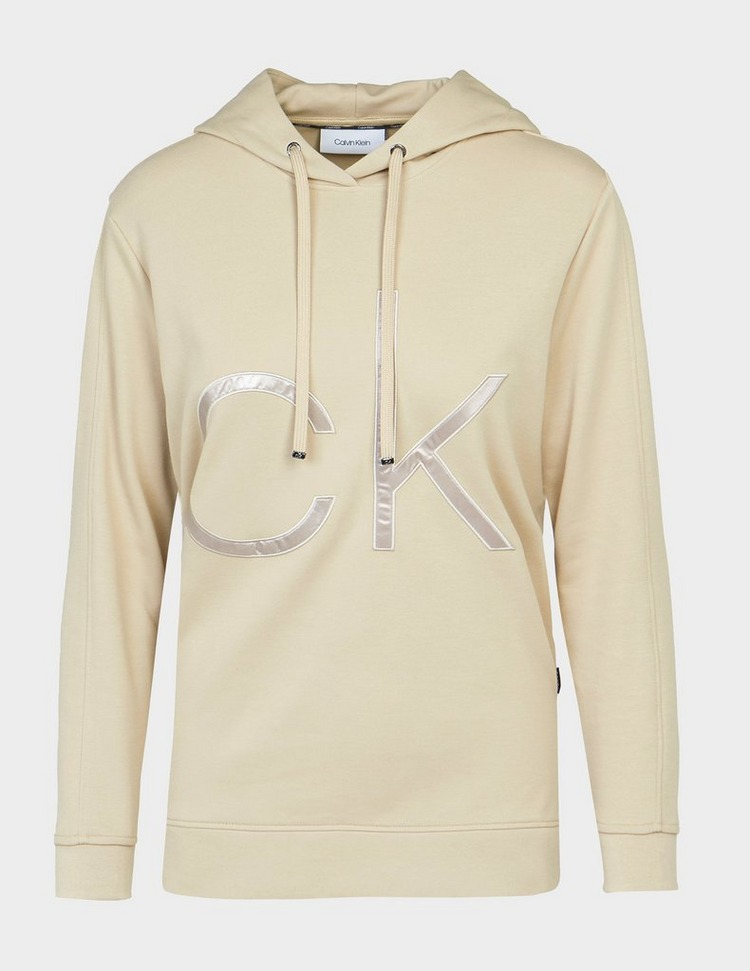Calvin Klein Womenswear Sateen Logo Hoodie