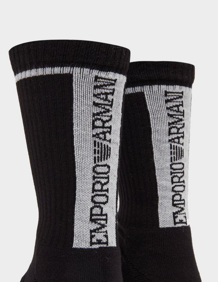 Emporio Armani Loungewear 2 Pack Sport Stripe Socks