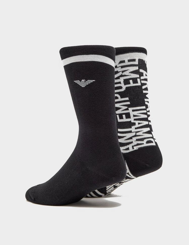 Emporio Armani Loungewear 2 Pack Multi Logo Socks