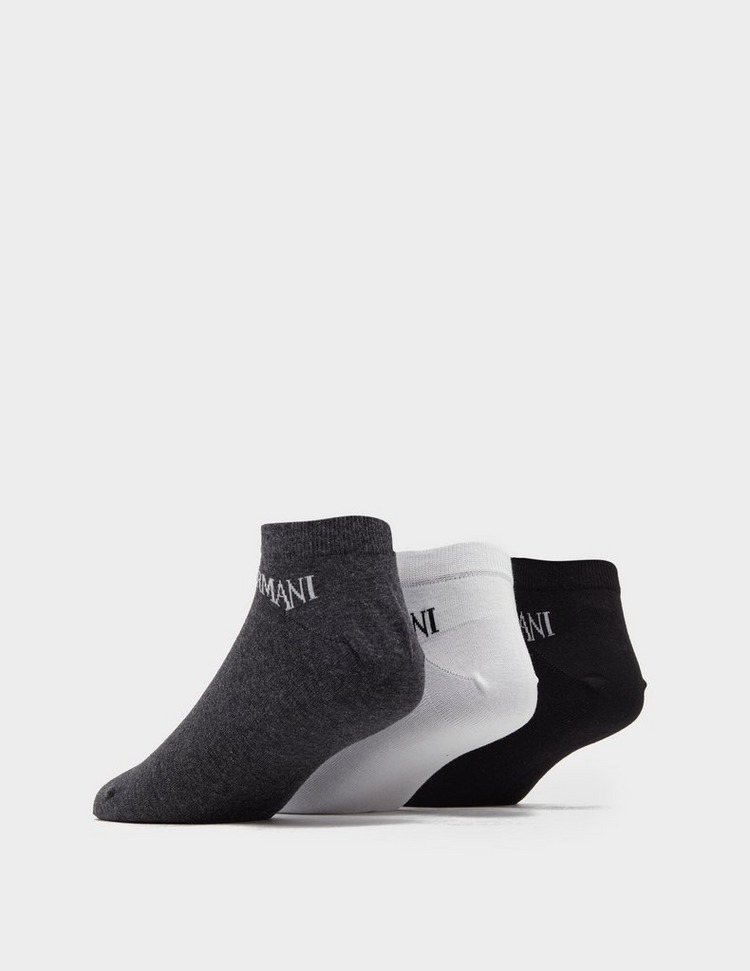 Emporio Armani Loungewear 3 Pack Trainer Socks