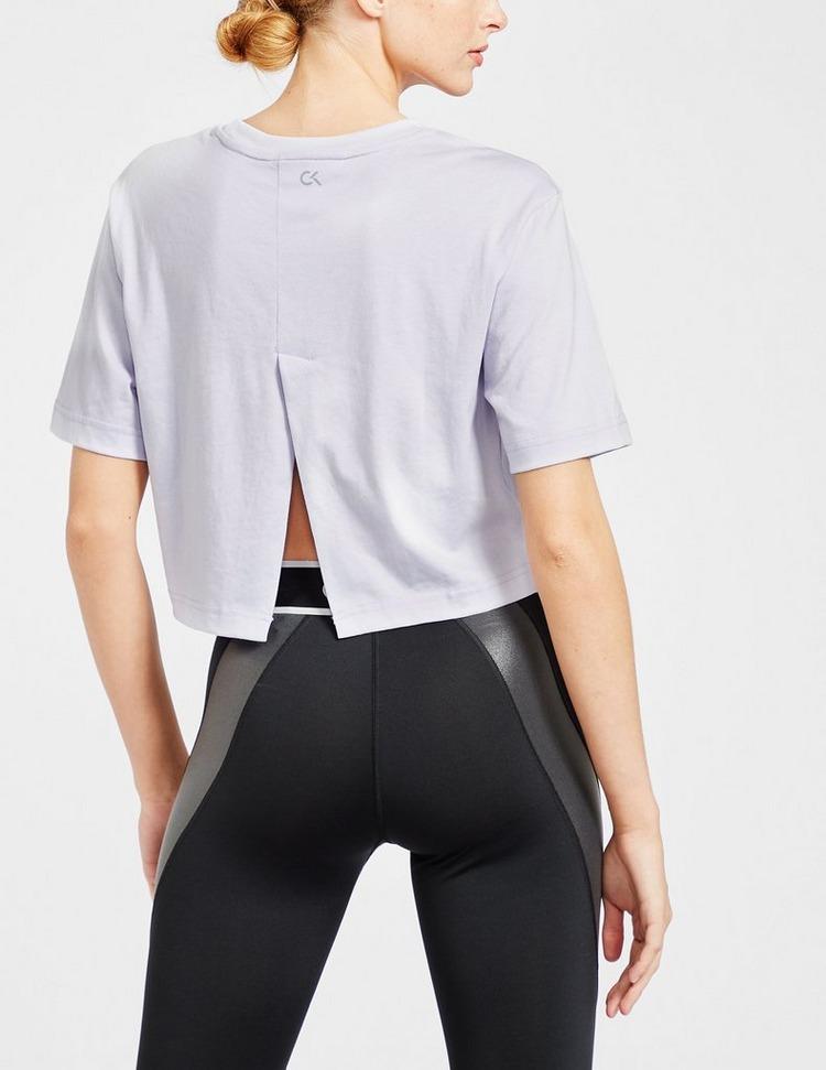 Calvin Klein Womenswear Embossed Crop T-Shirt