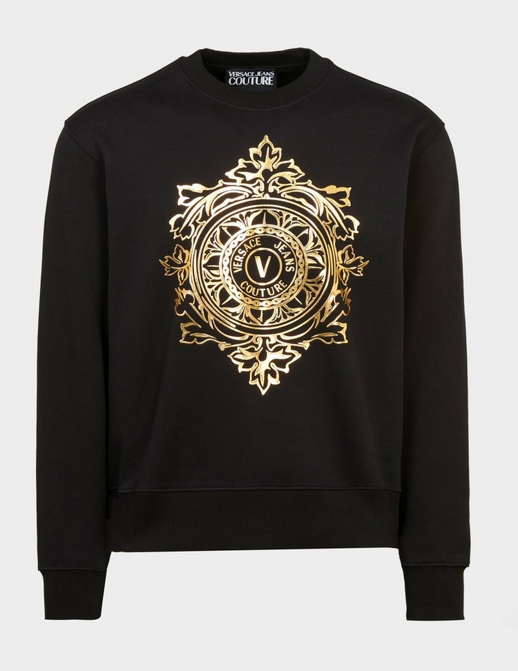 Versace Jeans Couture V Leaf Gold Logo Sweatshirt