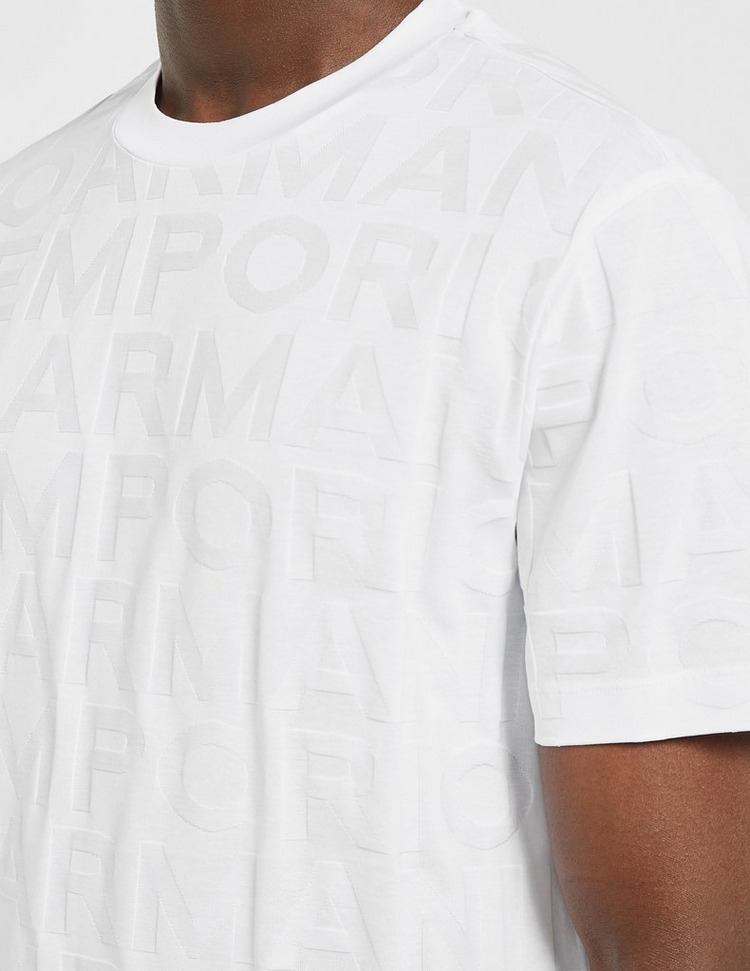 Emporio Armani All Over Logo T-Shirt