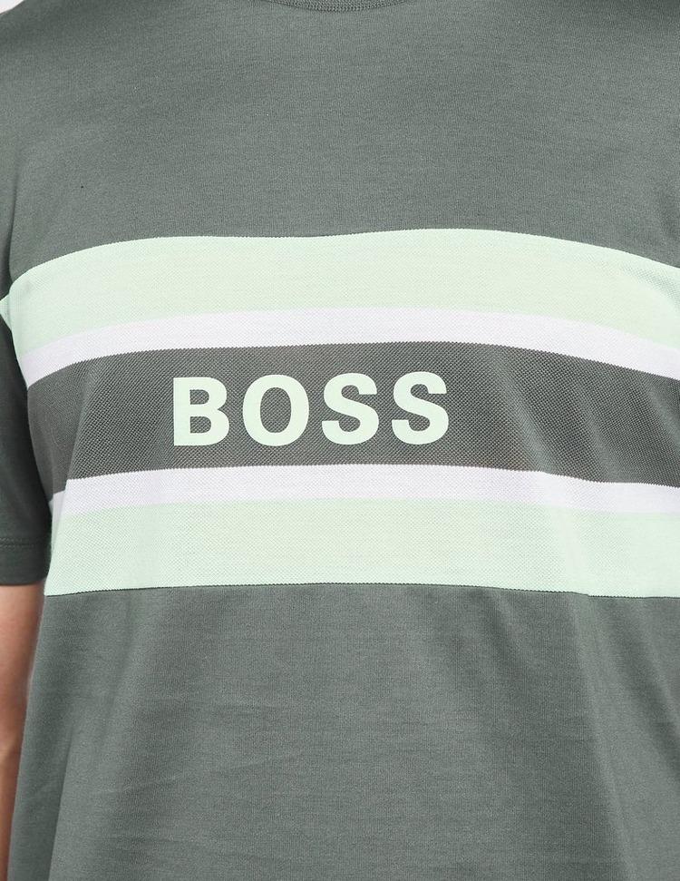 BOSS Tiburt Stripe Logo T-Shirt
