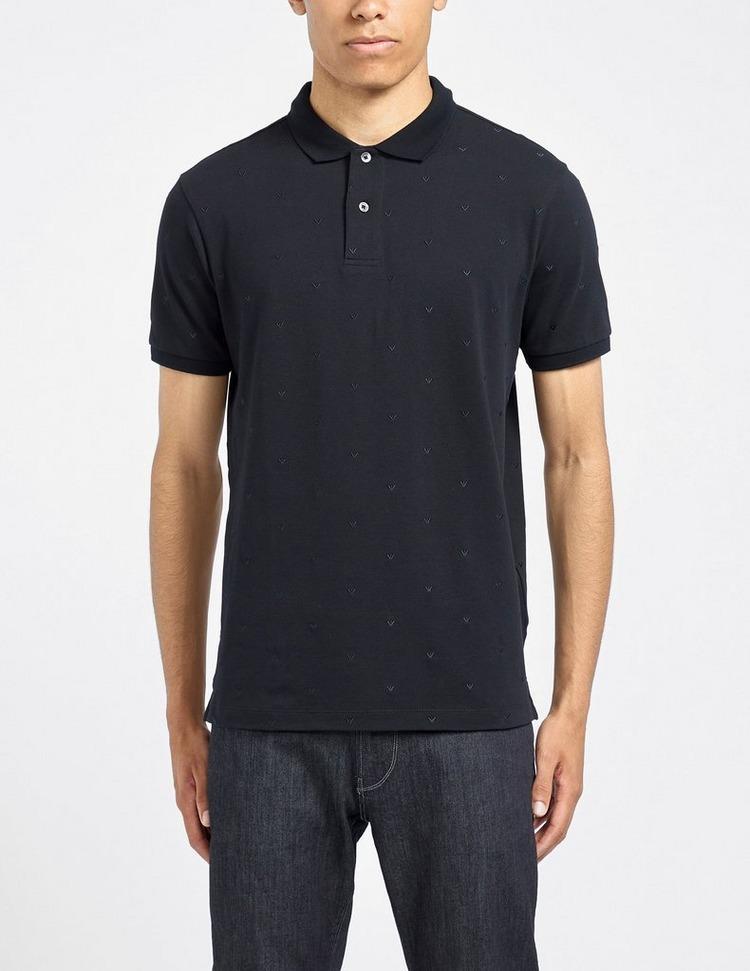 Emporio Armani All Over Stitch Eagle Polo Shirt