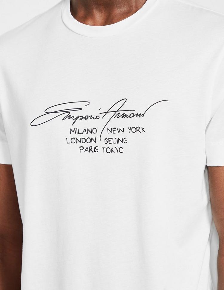 Emporio Armani Script Cities T-Shirt
