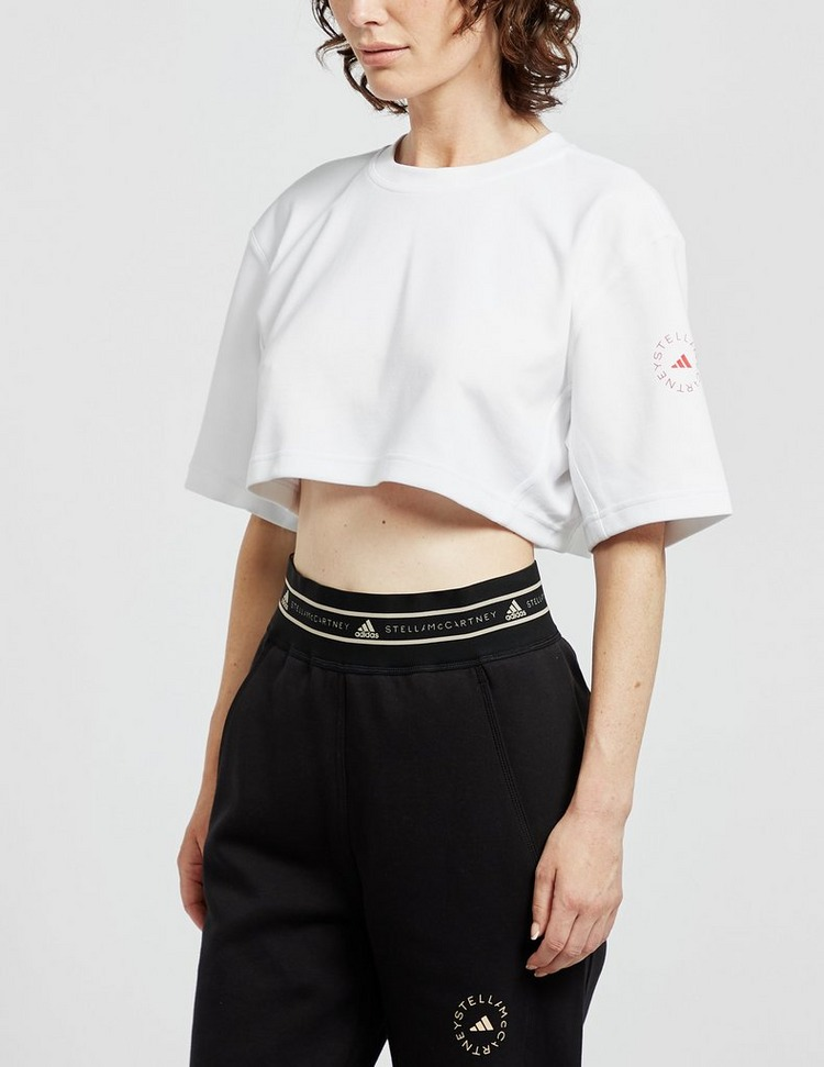 Adidas X Stella McCartney Back Logo Cropped T-Shirt