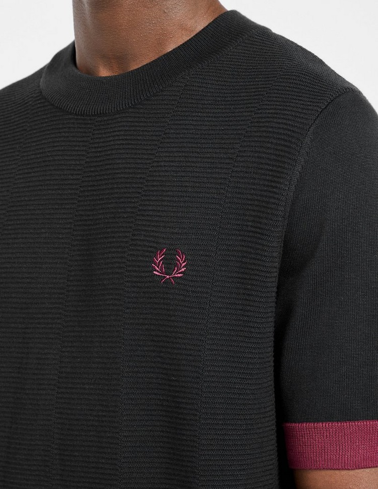Fred Perry Contrast Trim Knit T-Shirt