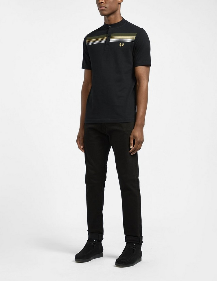 Fred Perry Henley Stripe Polo Shirt