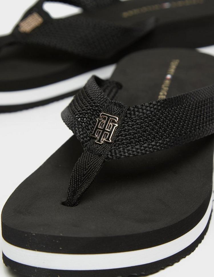 Tommy Hilfiger Mesh Wedge Flip Flops