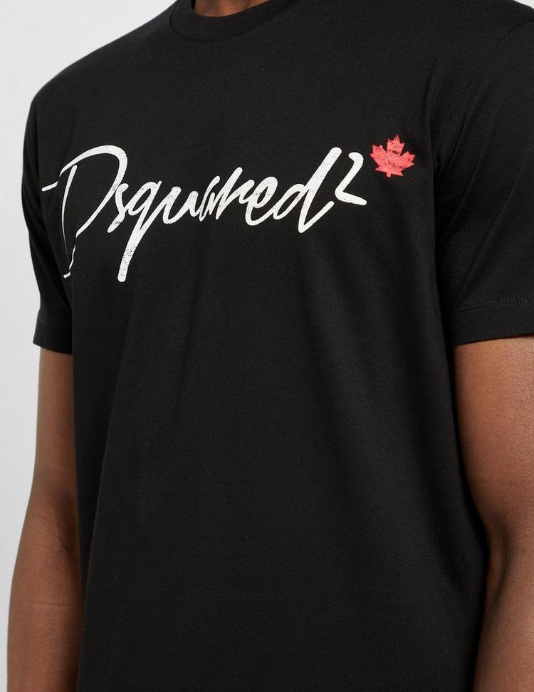 Dsquared2 Italic Script Text T-Shirt