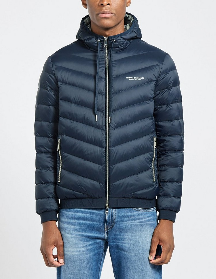Armani Exchange Quilted Hooded Jacket
