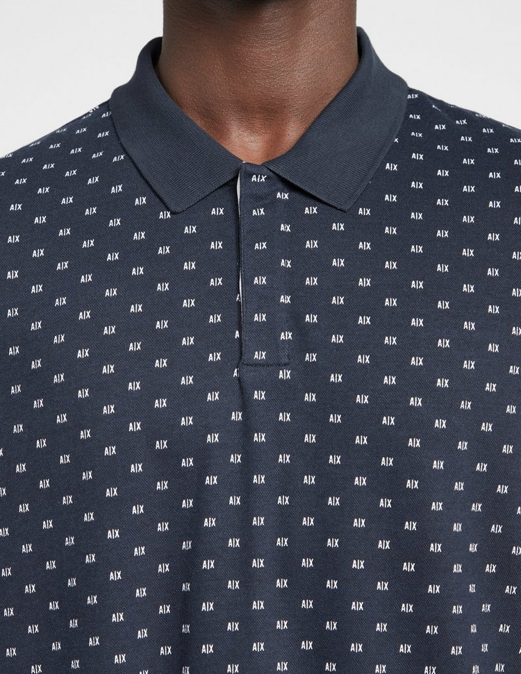 Armani Exchange All Over Micro AX Polo Shirt