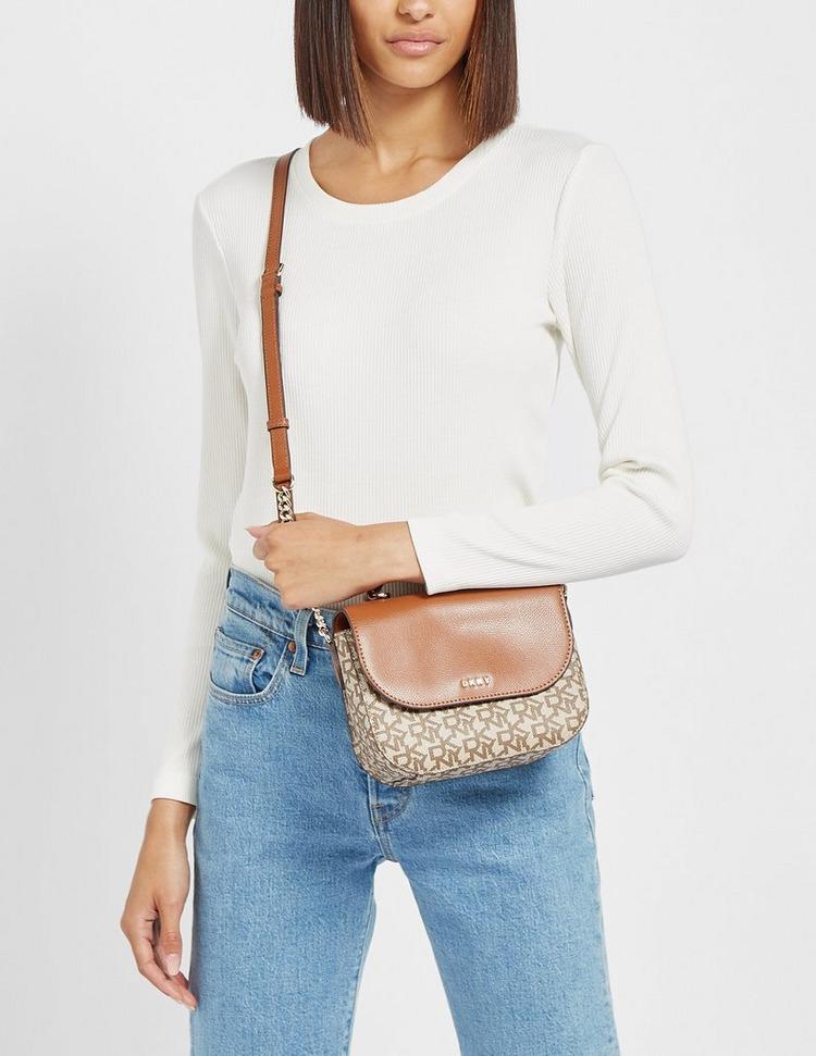 DKNY Felica Logo Flap Shoulder Bag