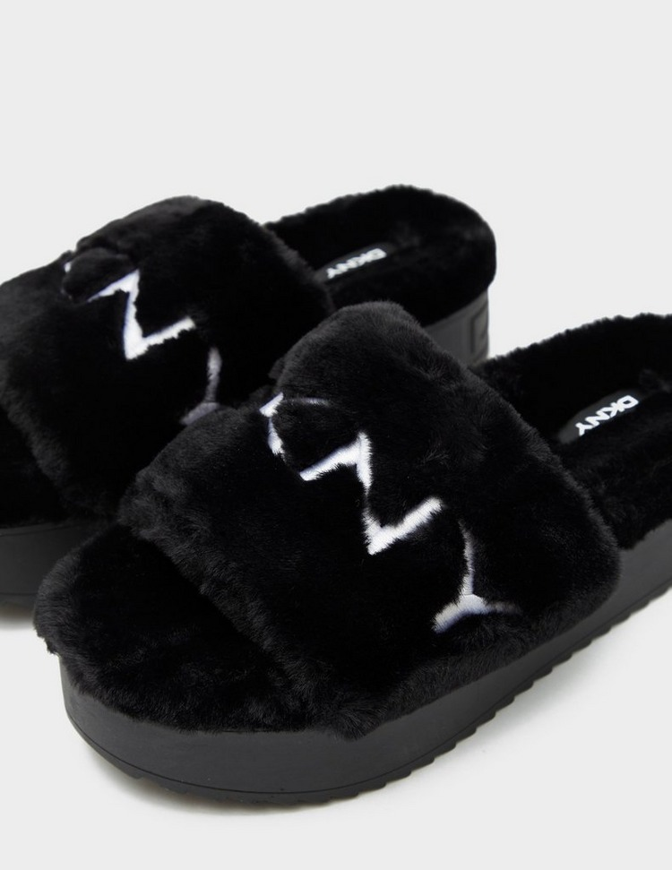 DKNY Palz Fluff Slipper Slides