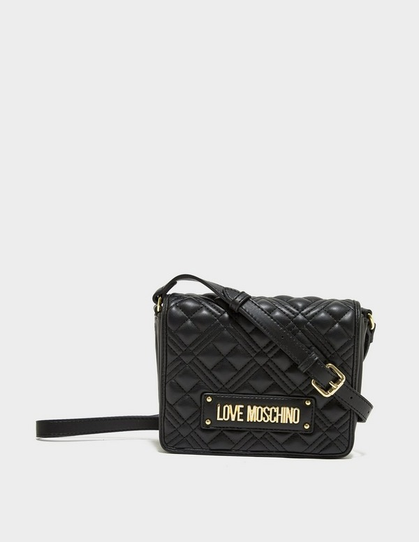 Love Moschino Quilted Flap Cross Body Bag