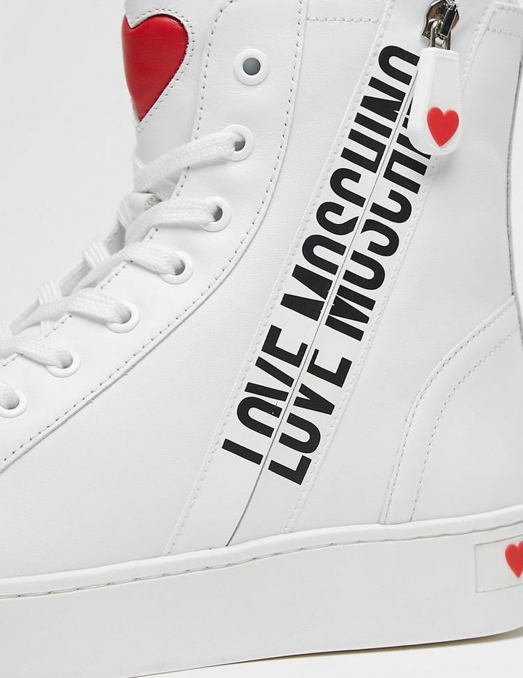Love Moschino Logo Zip High Top Trainers