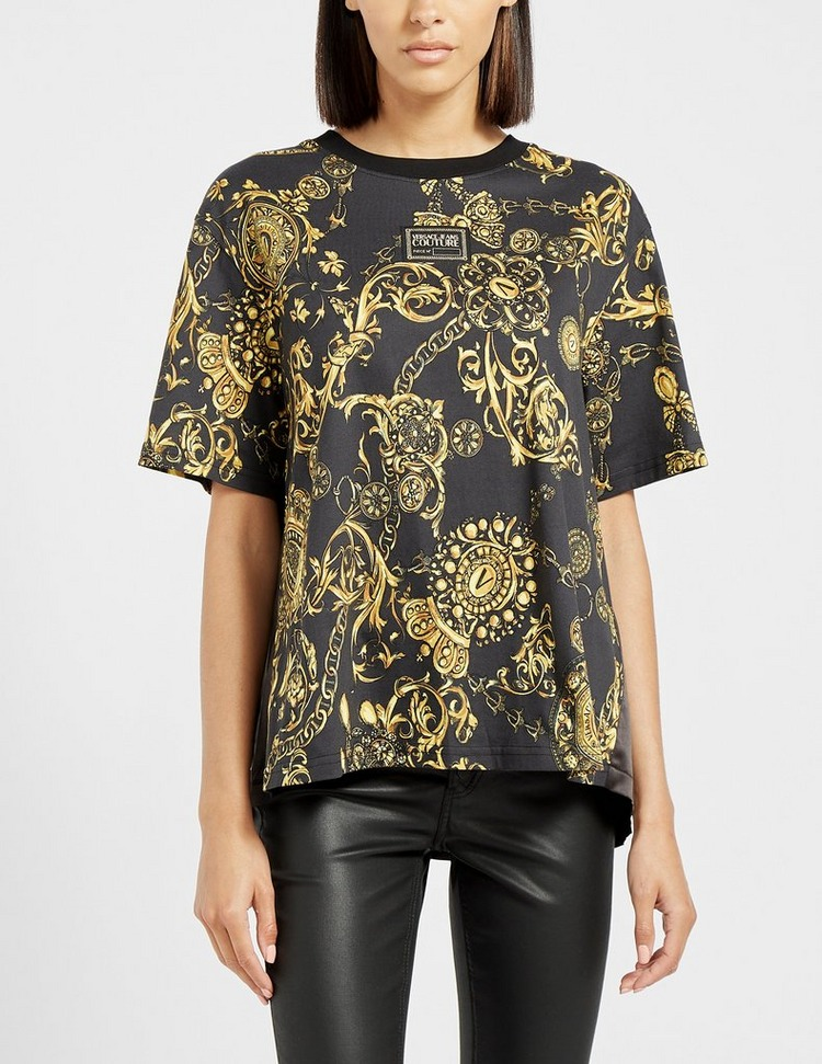 Versace Jeans Couture Baroque Print Patch T-Shirt